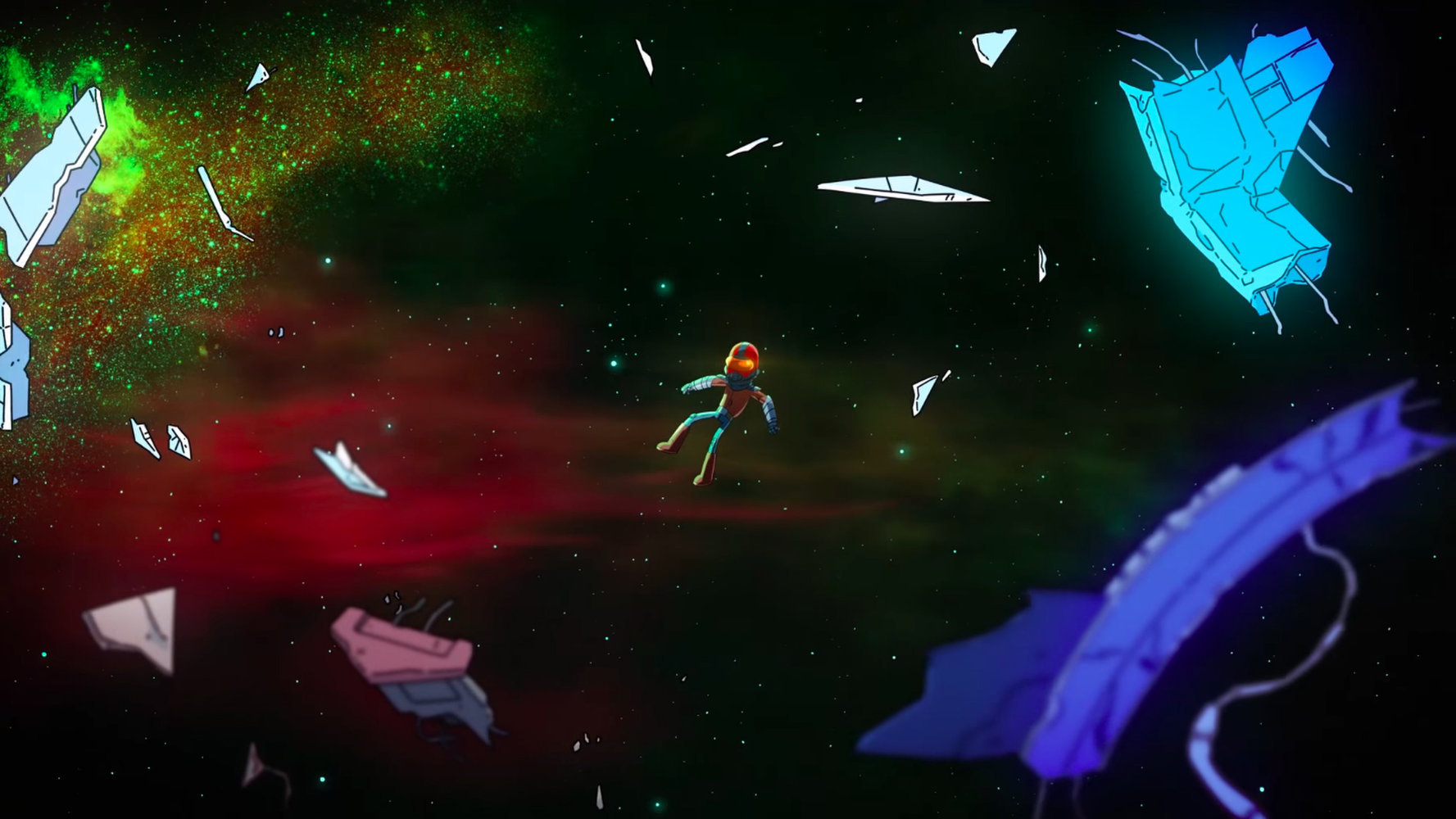 final space Garry floating