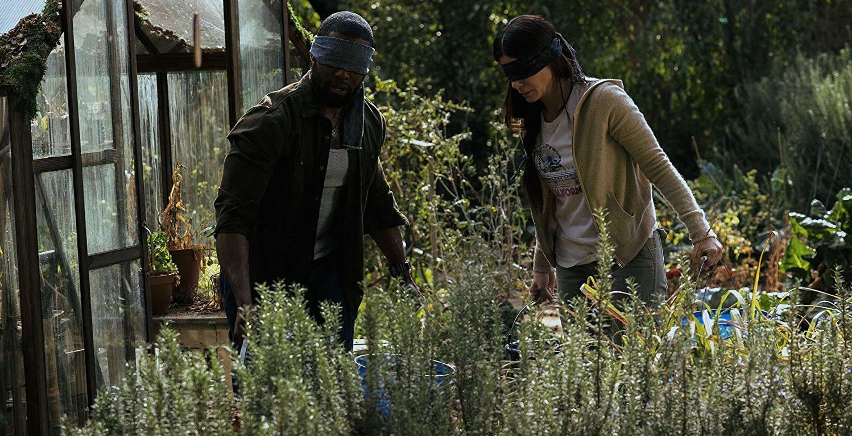 Bird Box (2018) Trevante Rhodes & Sandra Bullock