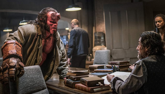 hellboy (2019) by neil marshall - David Harbour and Sasha Lane