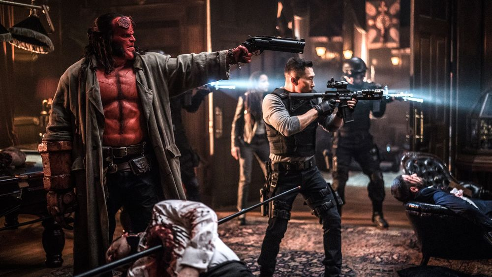 hellboy (2019) by neil marshall - david harbour and daniel dae kim