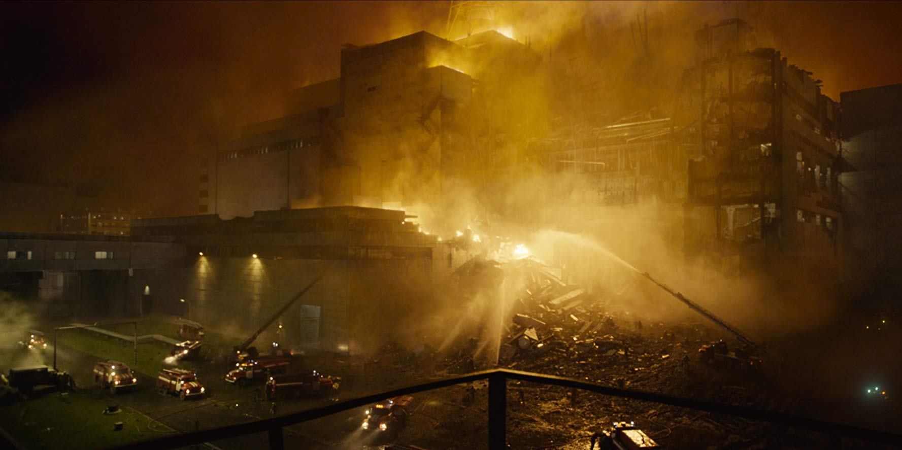 the explosion of Chernobyl reactor