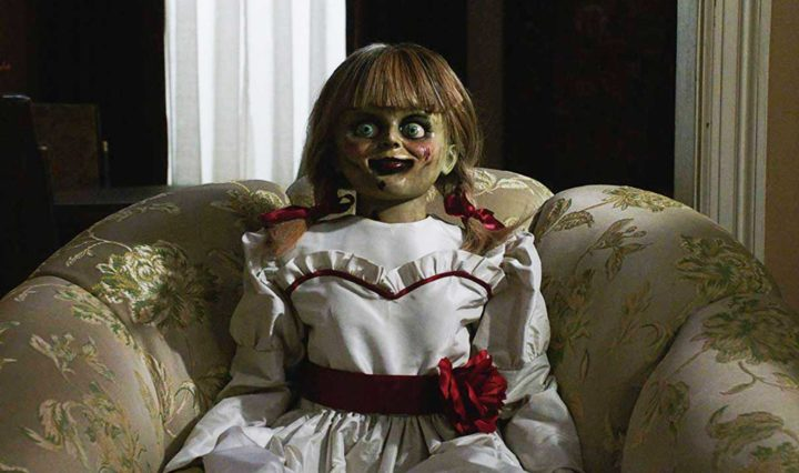 The creepy doll from Annabelle Comes Home (2019) - movie still