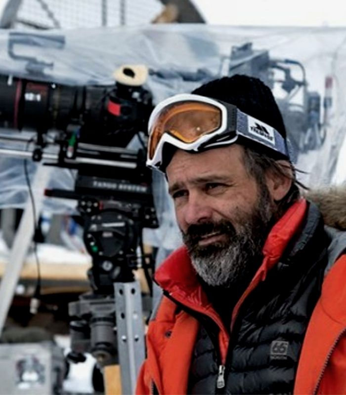 Baltasar Kormakur on the set of Everest