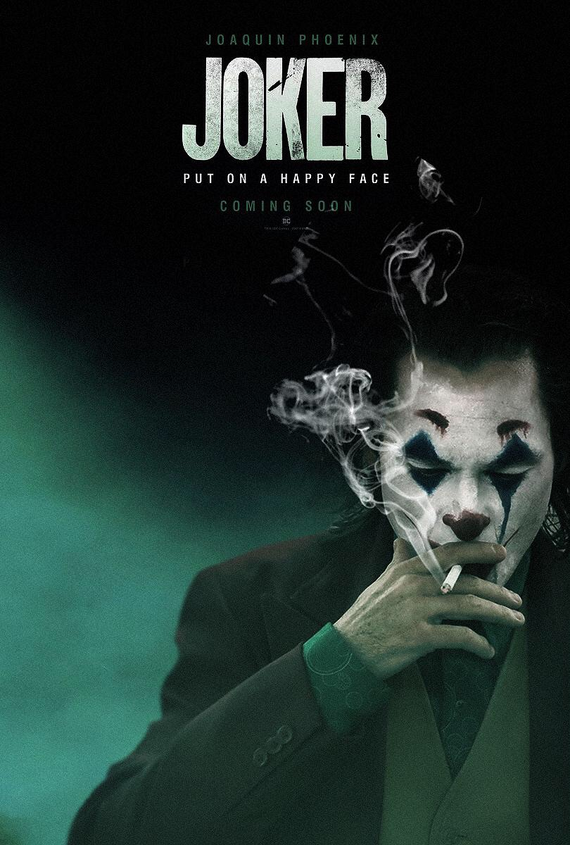 joker smoking a cigarette - joker poster
