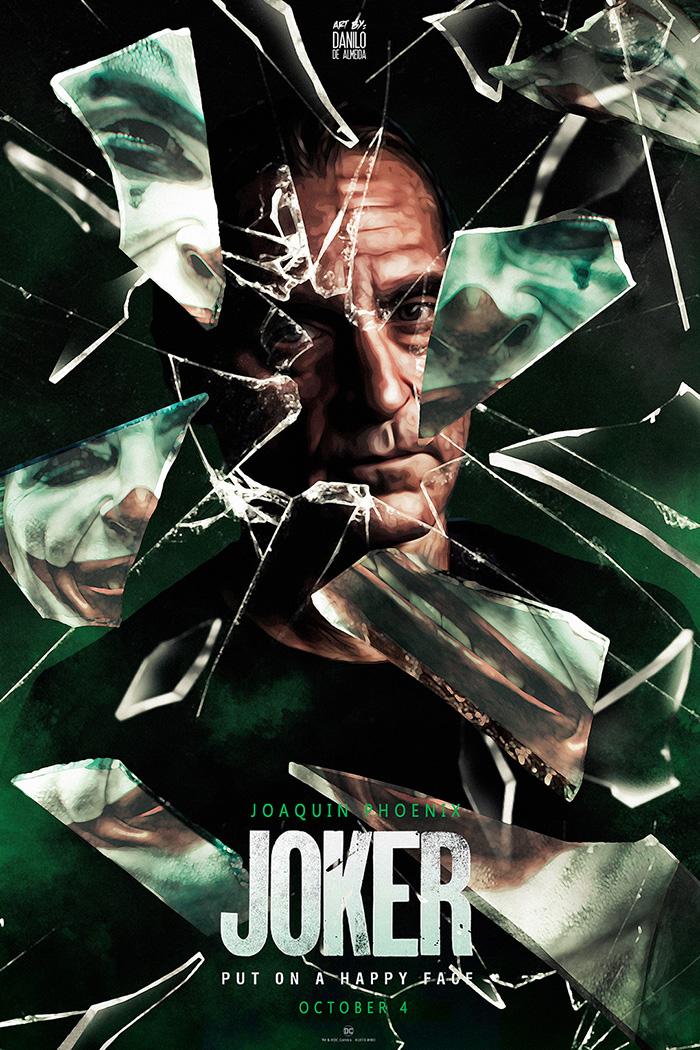 Joker poster with shattered glass