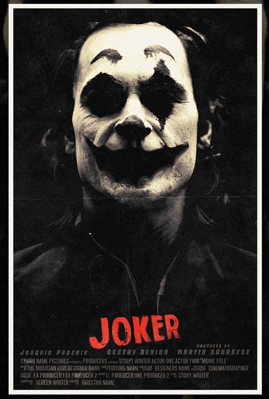 joker poster - black and white make-up