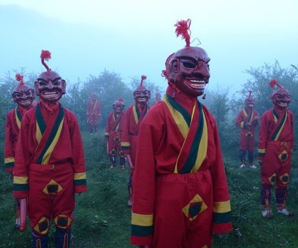 traditional bhutanese masks from red phallus movie