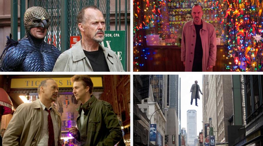 stills from Birdman 2014 - top visually stunning movies