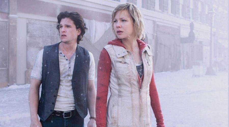 kit Harrington and Adelaide Clemens in Silent Hill: Revelation (2012)