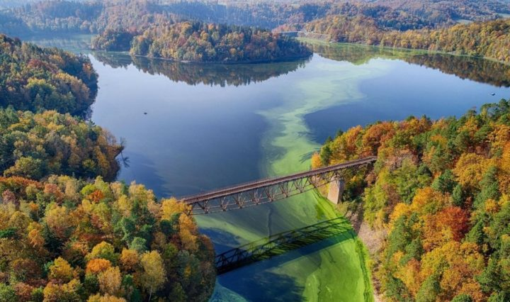 pilchowice lake in Poland