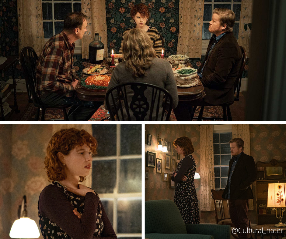 Jessie Buckley, Jesse Plemons, TOni Collette and David Thewlis in I'm Thinking Of Ending Things (2020)