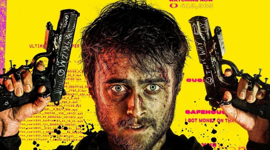 Daniel Radcliffe - poster of guns akimbo 2019