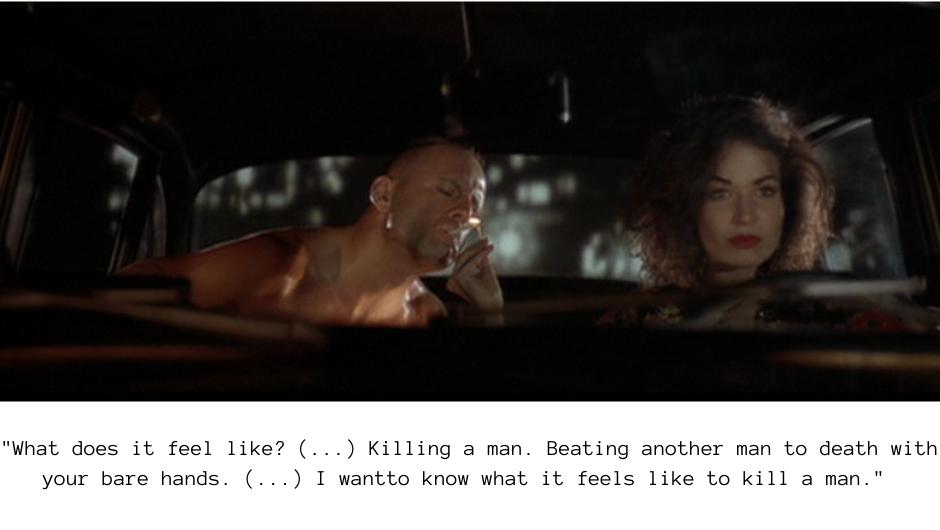 Esmeralda Villalobos on killing a man - Pulp Fiction quotes