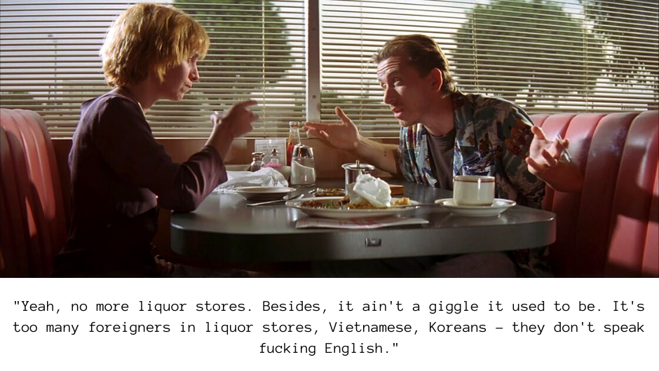Quote from the diner scene in Pulp Fiction