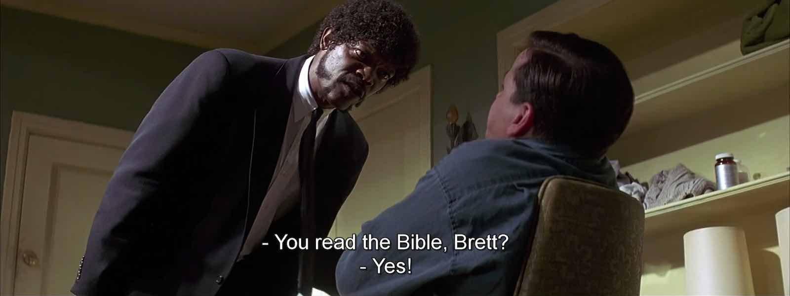 dialogue in pulp fiction - scene starring Samuel l. Jackson