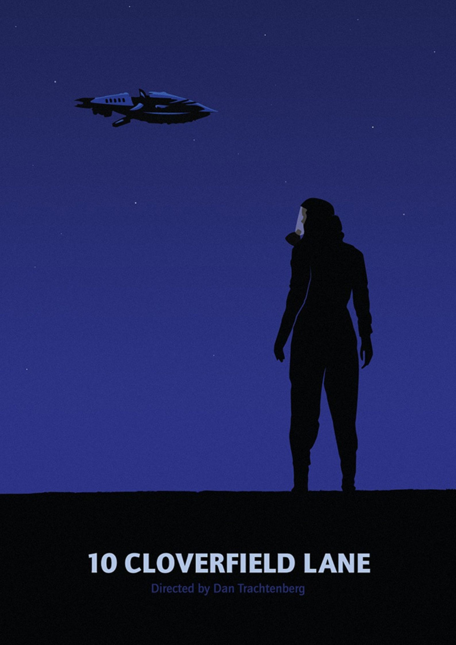 art poster of 10 Cloverfield lane - cosmic horror movie