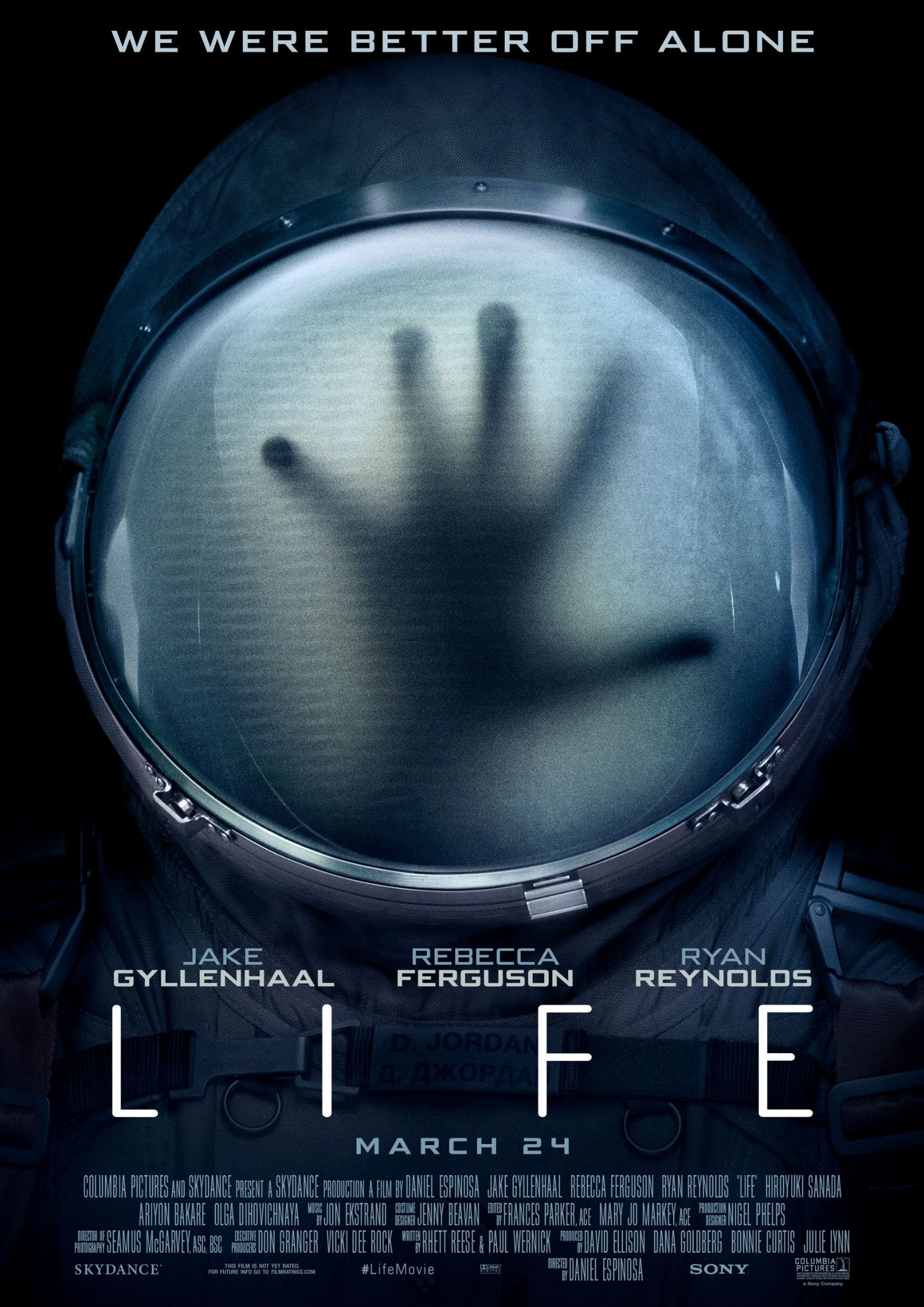 official poster of life 2017 - space horror film