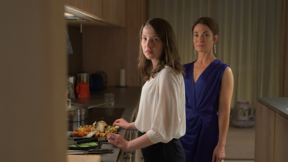 Annys Elwy and Caroline Berry in The Feast (2021)